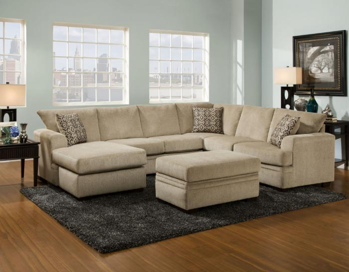 Cornell Platinum Sectional,American Furniture