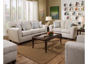 Uptown Ecru Sofa & Loveseat ,American Furniture