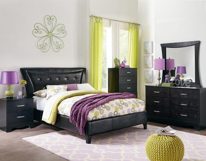 Vogue Dresser, Mirror, & Queen Upholstered Bed,Standard Furniture