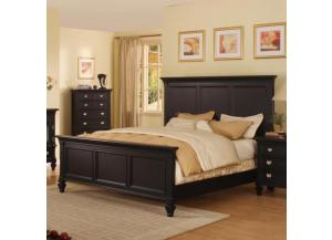 Summer Breeze Black Collection - Queen Panel Bed