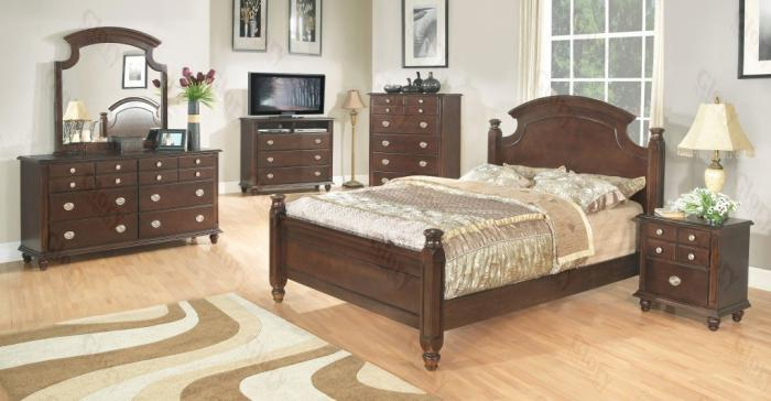 Poster Bed, Dresser Mirror, Chest, 2 Nightstands ,Glory Furniture Specials