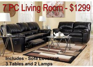 7 Pc Living Room Package - $1299