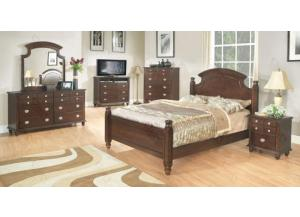 Poster Bed, Dresser Mirror, Chest, 2 Nightstands
