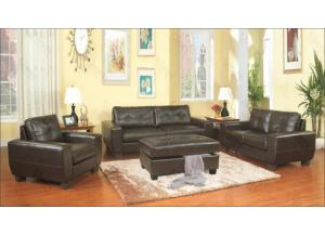 Brown Sofa & Love Seat