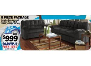 8 Pc Living Room Package - $999