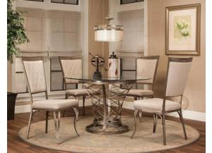 Jamison Taupe Dining Table & 4 Chairs,Cramco Dining