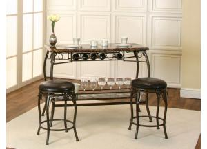 Marque Faux Marble Pub Height Bar & 2 Stools