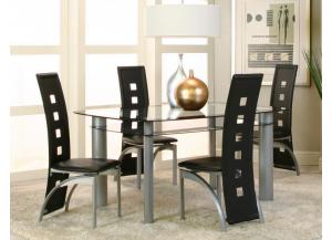 Valencia Dining Table & 4 Chairs Set