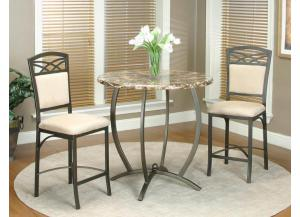 Atlas Pub 3 Piece Counter Height Dining Set Table & 2 Stools