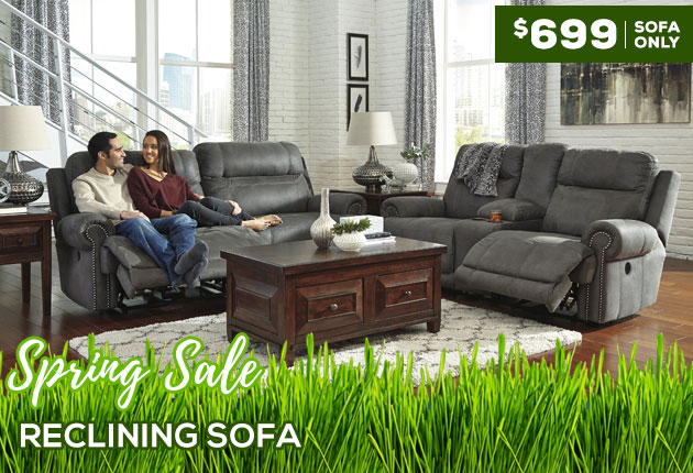 Austere Gray 2 Seat Reclining Sofa