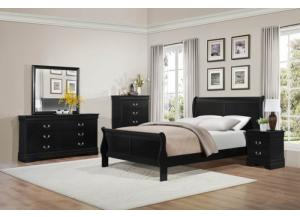Queen Sleigh Bed w/ Dresser, Mirror, and Nightstand