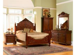 4PCS: QUEEN BED M/D/1N.STAND