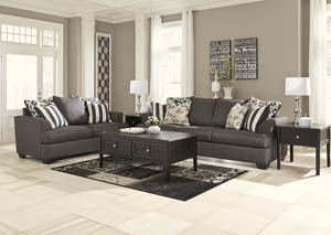 Levon Charcoal 7 Pc Living Room Set
