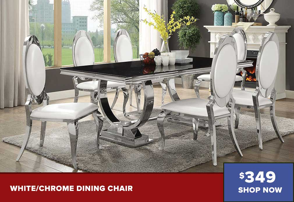 White/Chrome Dining Chair