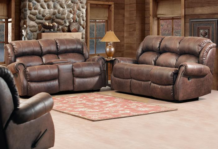 2pc Reclining Sofa & Rocking Reclining Loveseat,HomeStretch