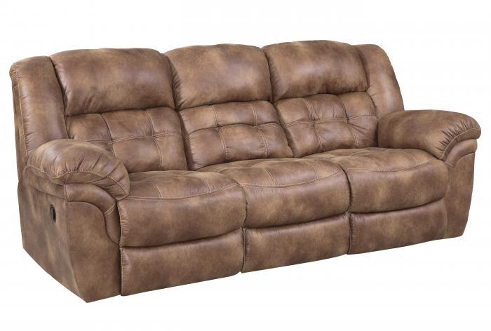 Almond Double Reclining Sofa,HomeStretch