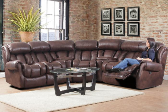 Espresso Power Reclining Sectional,HomeStretch