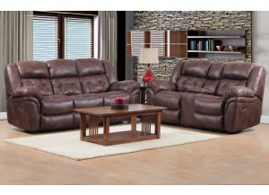 2pc Reclining Sofa & Rocking Reclining Loveseat
