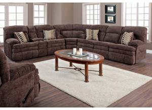 Espresso Reclining Sectional