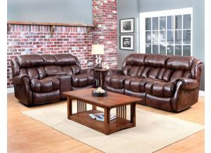Espresso Power Reclining Sofa & Reclining Loveseat