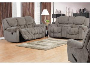 Granite Reclining Sofa & Reclining Loveseat