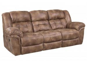 Almond Double Reclining Sofa