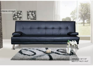 Sofa Bed Black Bonded