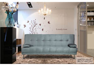 Sofa Bed Grey Fabric