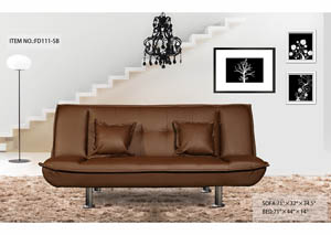 Sofa Bed Brown Fabric
