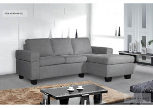 Sectional Grey Fabric