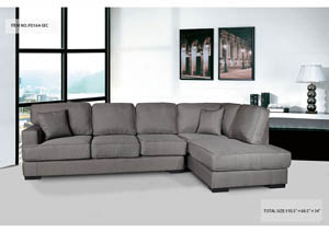 Sectional Light Brown Fabric
