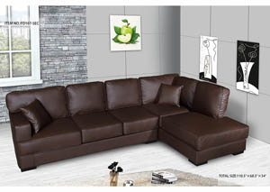 Sectional Brown Bonded