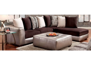 Fat Daddy s Furniture 6350 Shimmer Pewter Sectional black