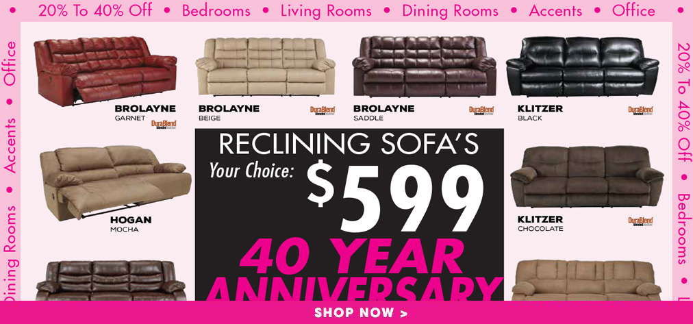 40 Year Anniversary Sale