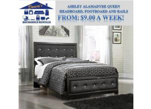 Ashley Alamadyre Queen Headboard, Footboard and Rails. RTO List Price: $459.99