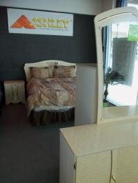 Ashley Champange Bedroom Set D/M, Armoir, 2 NS, HB, Queen Pillow Matt. Set WAS: $1,899.99