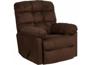 Serta Upholstery 400 Padded Walnut Rocker/Recliner