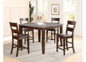 Blue Stone Pub Table w/6 Chairs