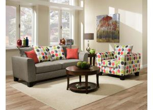 Base Dove Sofa and Loveseat