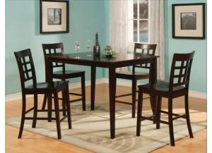 5 Pc Austin Cherry Pub Set (Table & 4 Chairs)