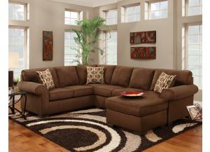 2PC Patriot Chocolate Sectional