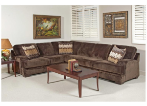 Serta Upholstry Olympian Chocolate Sectional