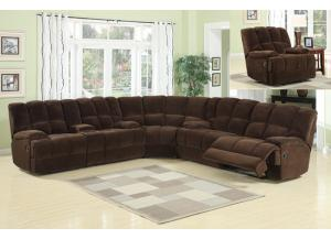 Donna Chocolate Sectional