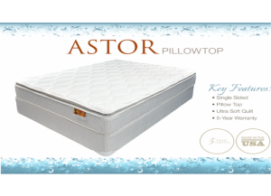 Astor Plush Pillowtop Queen Mattress & Boxspring Set