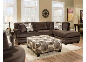 Groovey Chocolate Sectional