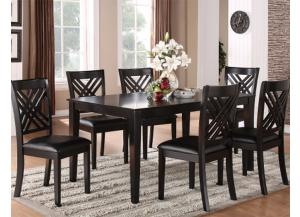 Brooklyn Dark Espresso Dining Table w/6 Chairs
