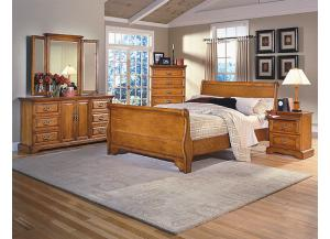 Honey Creek King Bedroom Set (K Bed, Dr/Mirr & Chest)