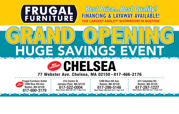 Grand Opening Event at Chelsea, MA Frugal Furniture