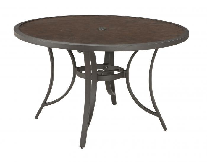 Carmadelia Round Dining Table w/UMB OPT,Ashley Outdoor