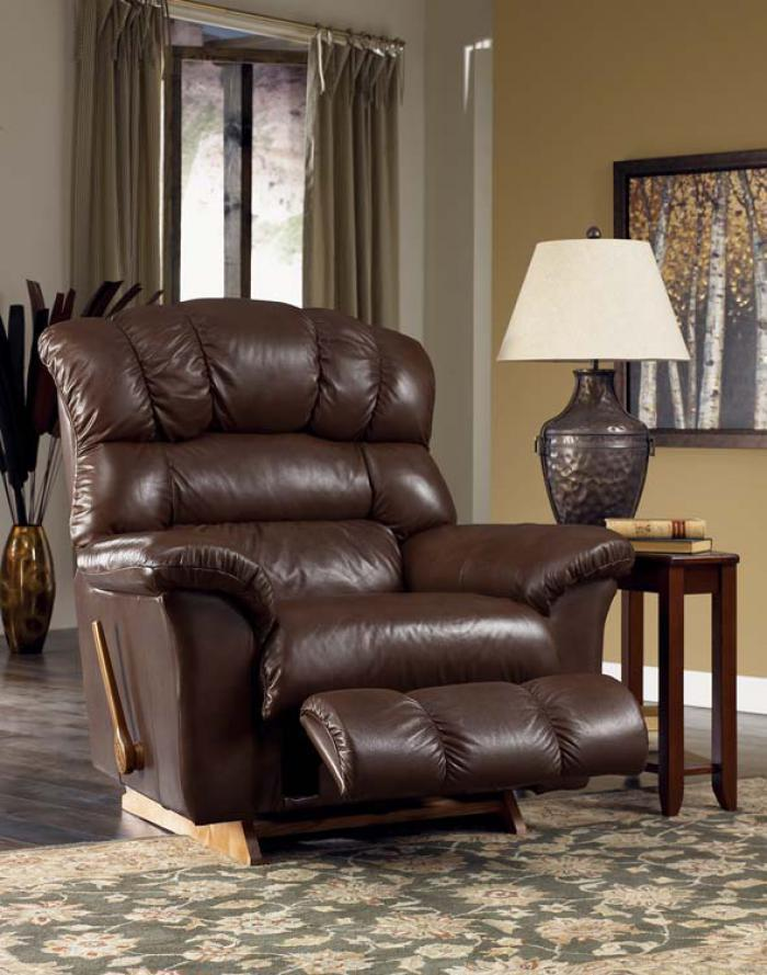 crandell leather recliner - Leather Rocker Recliner